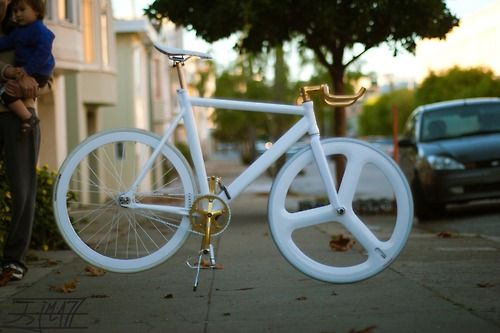 all white and gold awesome bikes pinterest. Black Bedroom Furniture Sets. Home Design Ideas