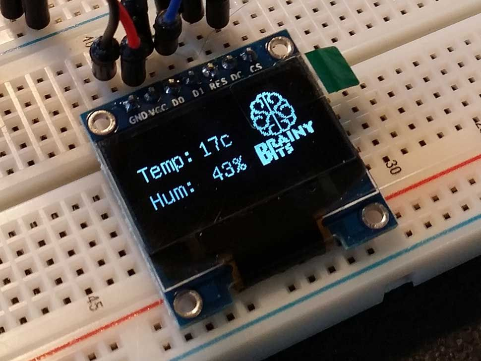 Connect and use an oled display using the spi bus