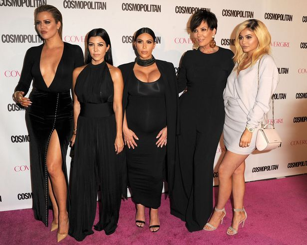 Khloe, Kourtney and Kim Kardashian, with Kris and Kylie Jenner