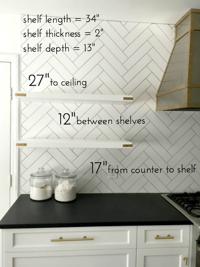 Details On Our Floating Kitchen Shelves Emily A Clark Open
