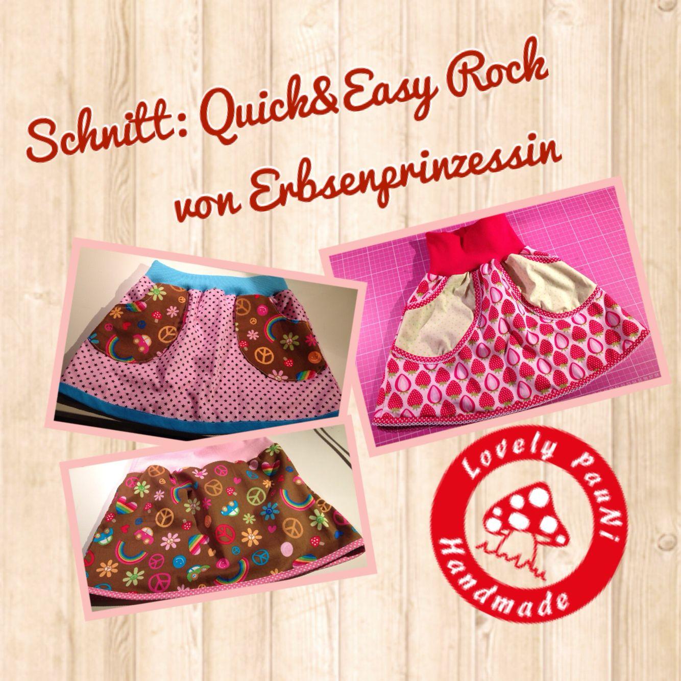 Rock Schnitt Erbsenprinzessin   Fertige Röcke bei mir  #frauerbse #LovelyPauNiBlog #LovelyPauNi