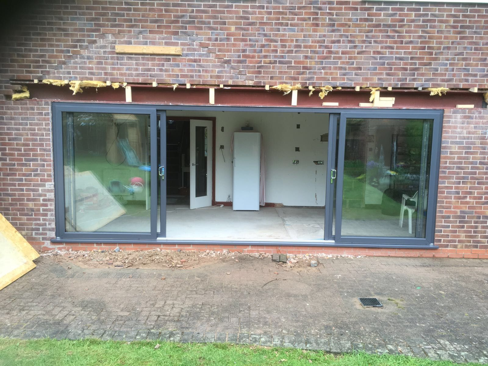 Kommerling Premiline Secured By Design 4 Pane Sliding Patio Doors In Slate Grey Ral 7015