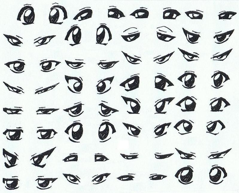 How To Draw Anime Boys Eyes Step By