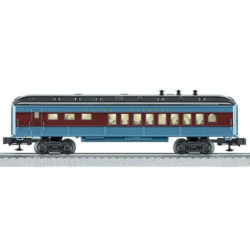 Lionel Trains Warner Brothers Polar Express Baby Madison Model Train Car Lionel Trains Warner Brothers The Polar Express Baby Madison Model Train Car showcases dining guest silhouettes in the windows and will be a great addition to the Polar Express O Gauge Train set. Diner Car is trademarked with the Polar Express insignia and sports the infamous Polar Express colors of black, gray, and burgundy. Good to Know Lubricate the wheels, axles, and linkage regularly to avoid squeaks and wear Wipe with