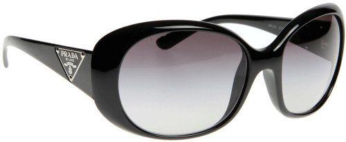 f36ce0660fceb Amazon.com  Prada PR27LS Sunglasses - 1AB 3M1 Gloss Black (Gray Gradient  Lens) - 57mm  Clothing