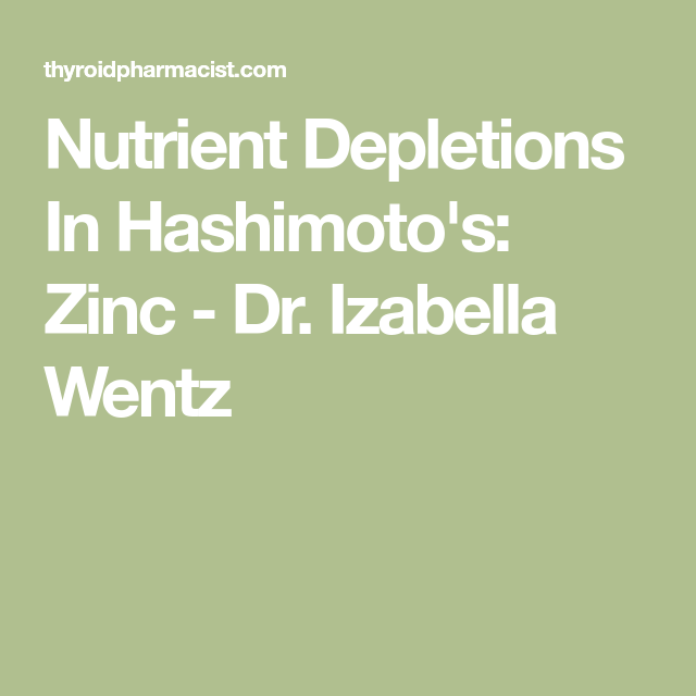 How Zinc Deficiency Affects Hashimoto's