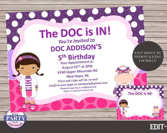 Doc mcstuffins editable birthday invitation instant download doc mcstuffins editable birthday invitation instant download digital download diy printable add and change your own text doc party solutioingenieria Gallery