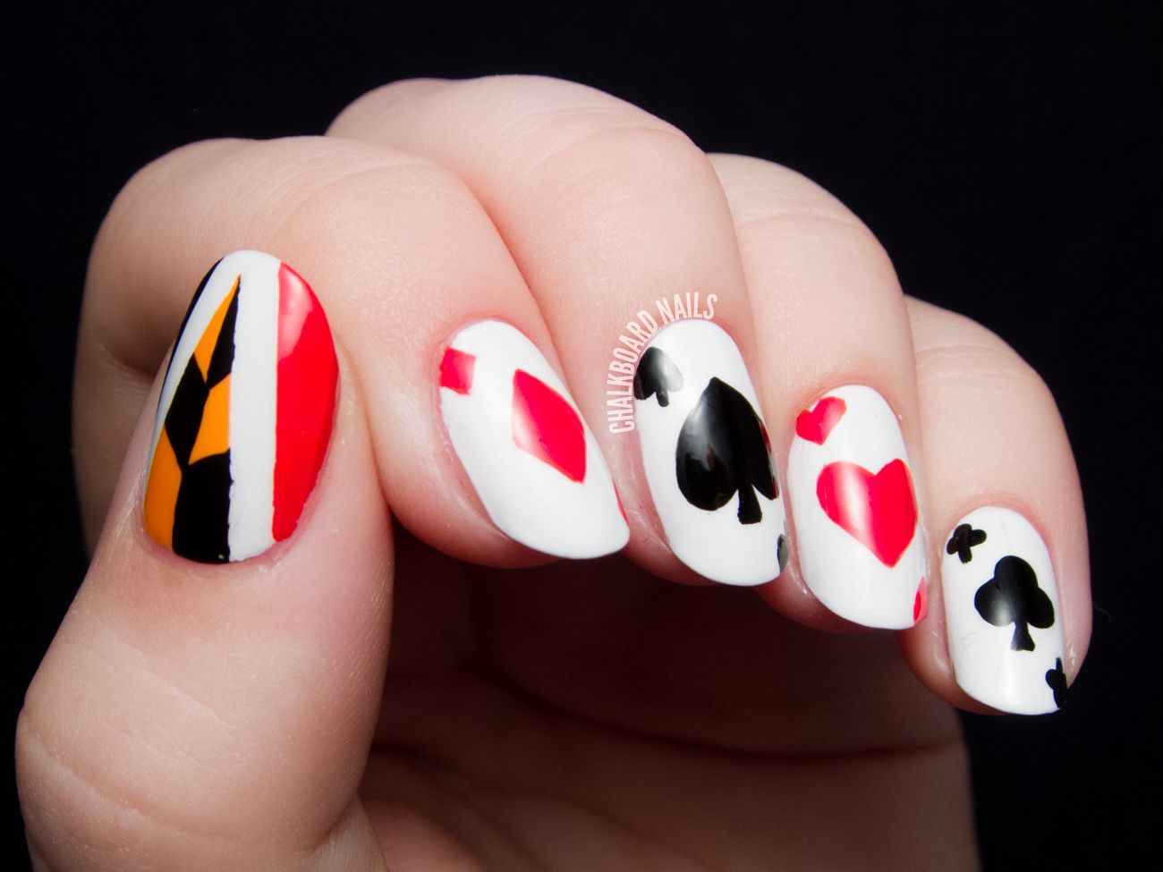 Off With Their Heads! Queen of Hearts Nail Art