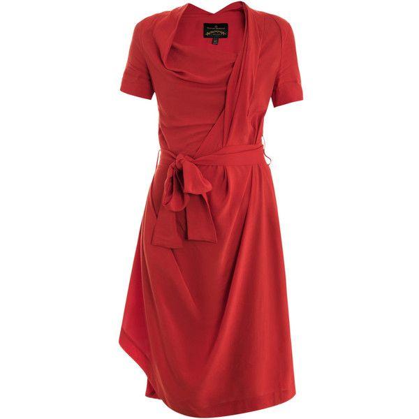 Vivienne Westwood Anglomania Daisy drape dress ($495) ❤ liked on Polyvore