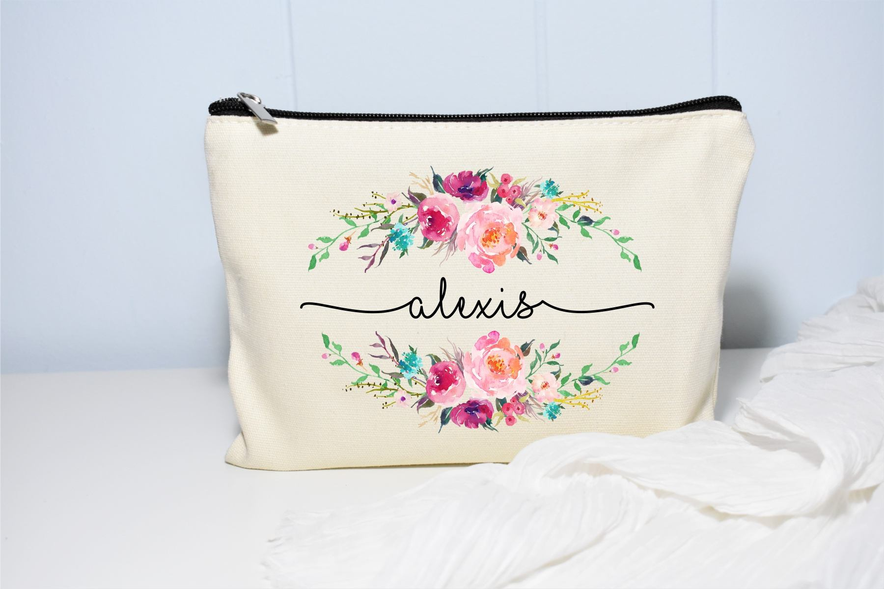 Personalized Makeup Bag Personalized Makeup Bags Gifts For Friends Canvas Makeup Bag