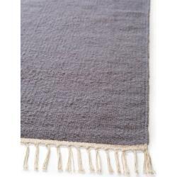 benuta Wollteppich Mala Grau 70x140 cm - Naturfaserteppich aus Wolle benuta #budgetbackyard
