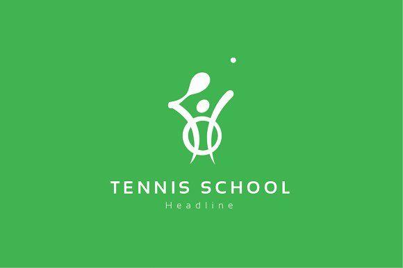 Tennis School Logo School Logo Professional Logo Design Business Card Logo