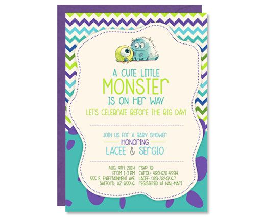 Monsters inc baby shower invitations baby shower invitations monsters inc baby shower invitations filmwisefo