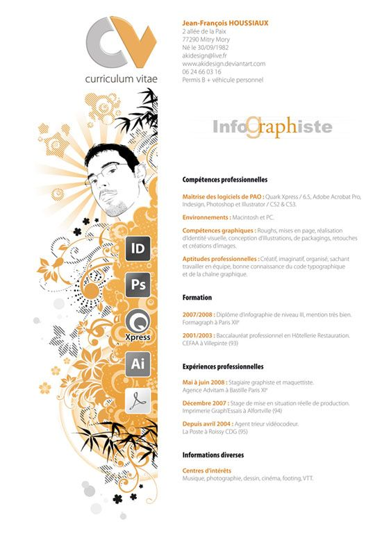 CV graphiste | job | Pinterest | Design resume, Design web and