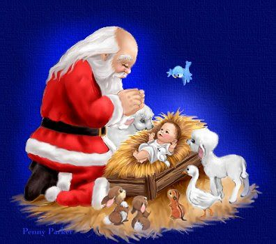 Papai Noel Colorido Para Imprimir Significado Do Natal Cenas