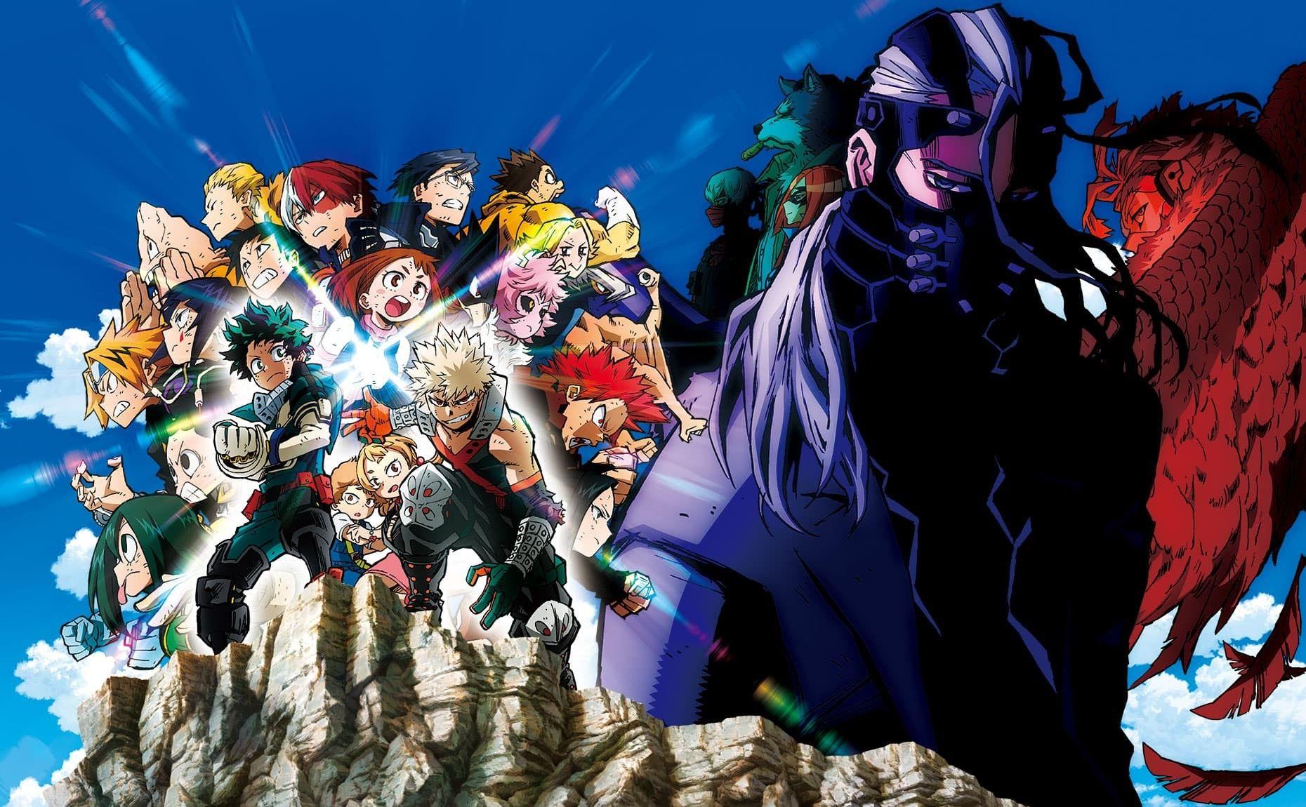 My Hero Academia Heroes Rising Key Visual New Version Hero Movie My Hero Hero