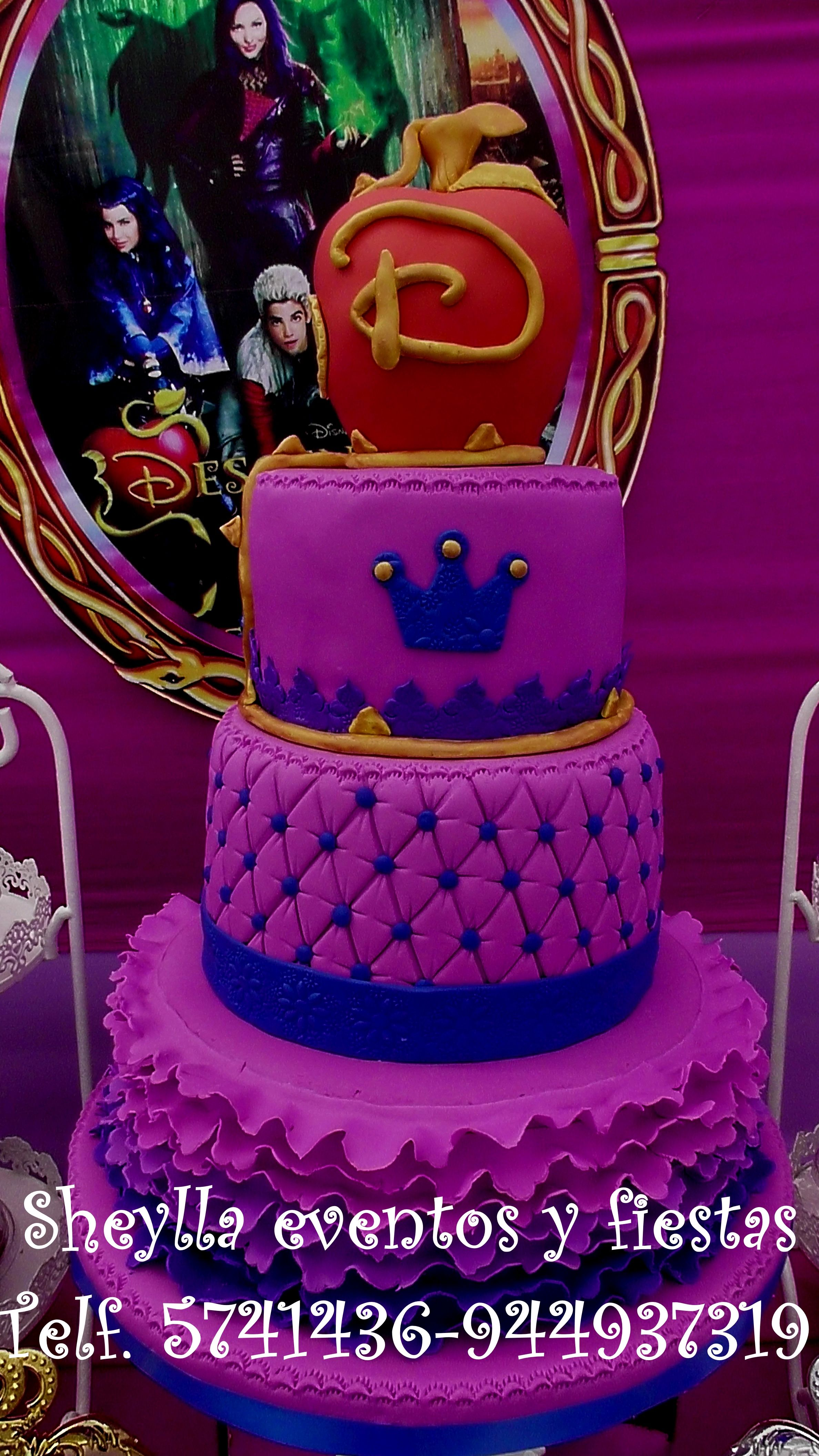 Torta descendientes | princesa cakes | Pinterest | Tortilla, Cumple ...