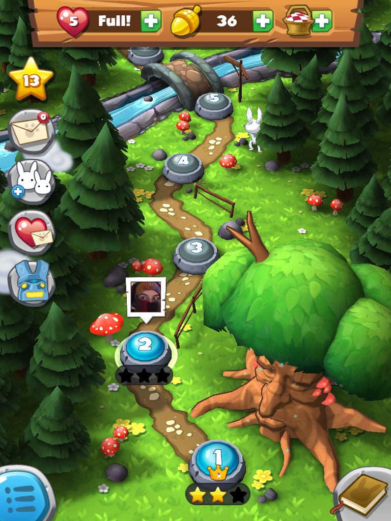 Forest Home Quest Map UI, HUD, User Interface, Game Art