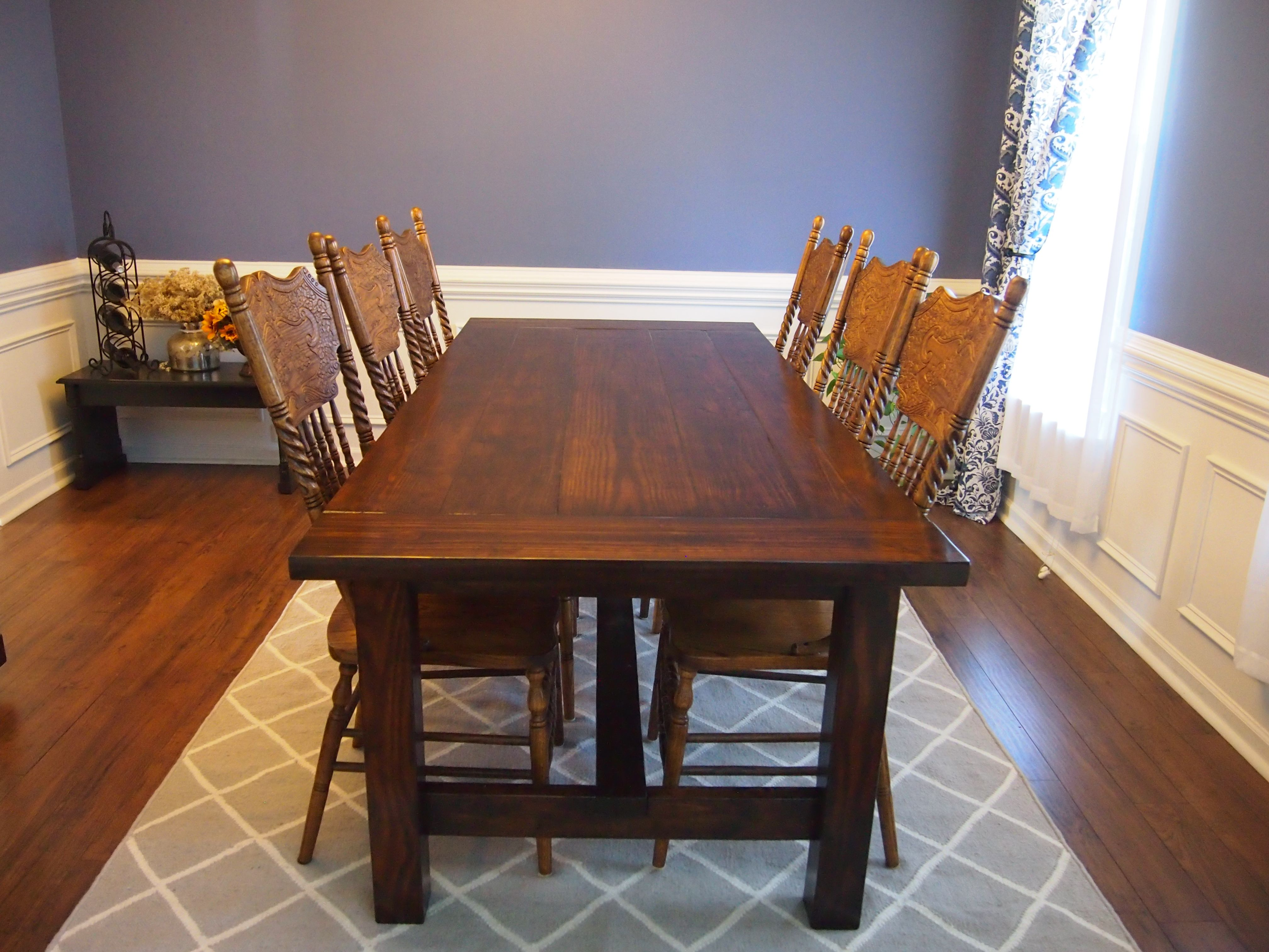 diy farmhouse table do it yourself home projects from ana white farmhouse dining room table on farmhouse kitchen table diy id=61139
