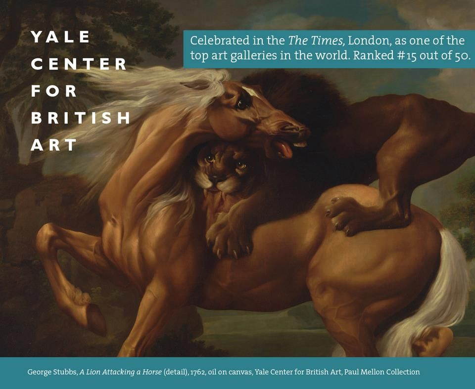 """The Yale Center for British Art has been selected as one of """"The World's 50 Greatest Galleries"""" by """"The Times"""" of London. The gallery is always free & open to the public. Visit today!"""