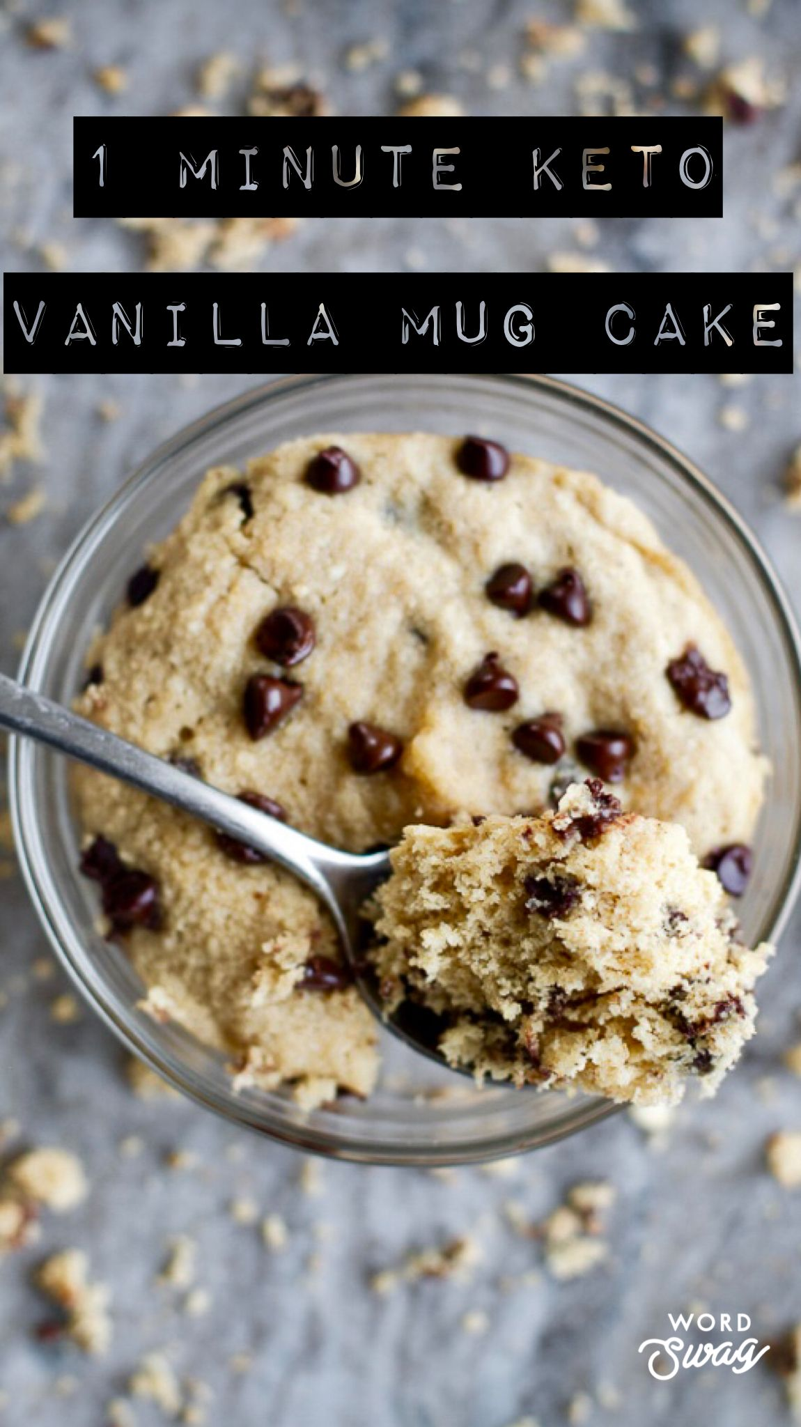 Healthy 1 Minute Keto Vanilla Mug Cake | Recipe | Protein ...