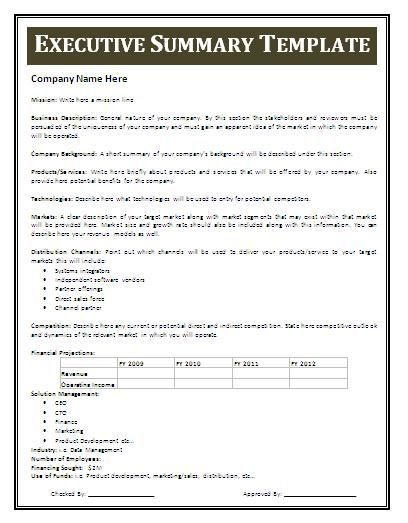 Resume Executive Summary Examples Executive Summary Sample  Executive Summary Templates  Pinterest .
