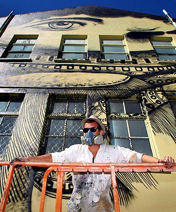 Street artist Mikaere Gardiner