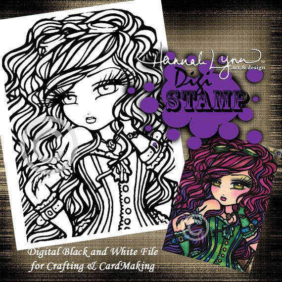 Hey, I found this really awesome Etsy listing at https://www.etsy.com/listing/277515676/printable-digi-stamp-heather-steampunk