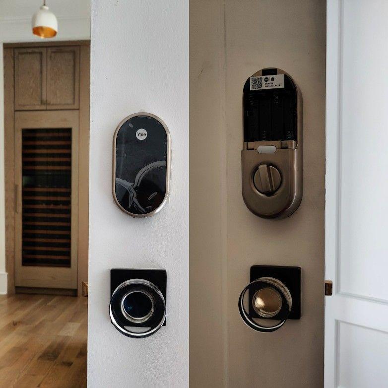 Smart lock fresh installation on residential property