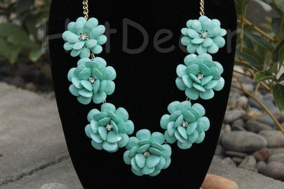 Statement necklace Bubble necklace Bib Necklace Rose by HotDecor