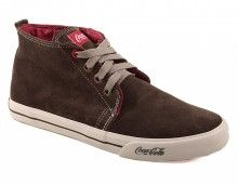 Tênis Coca-Cola Style Boots Camurça Taupy R$159.90