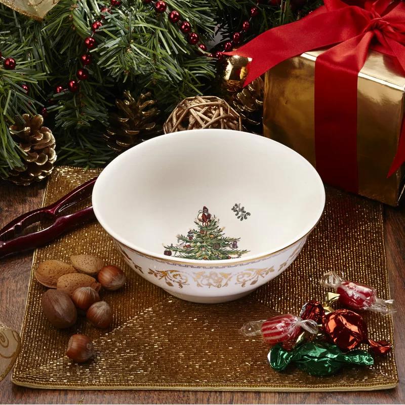 Christmas Tree Gold Bowl Spode Christmas Tree Spode Christmas Gold Bowl