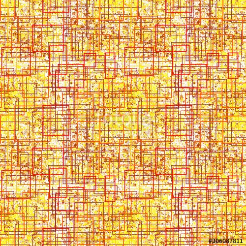 Abstract background Geometric seamless background from the outlines of squares, brown, red, yellow colors. geometry, illustration for printing on festive wrapping paper, wallpaper, fabric. , #spon, #brown, #squares, #yellow, #red, #outlines #Ad