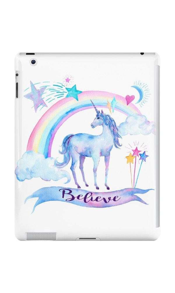 Unicorn And Rainbow Believe Unicorn Gifts Ipad Retina 3 2 Snap Case By Itsagift In 2021 Cute Ipad Cases Ipad Mini Cases Tablet Case
