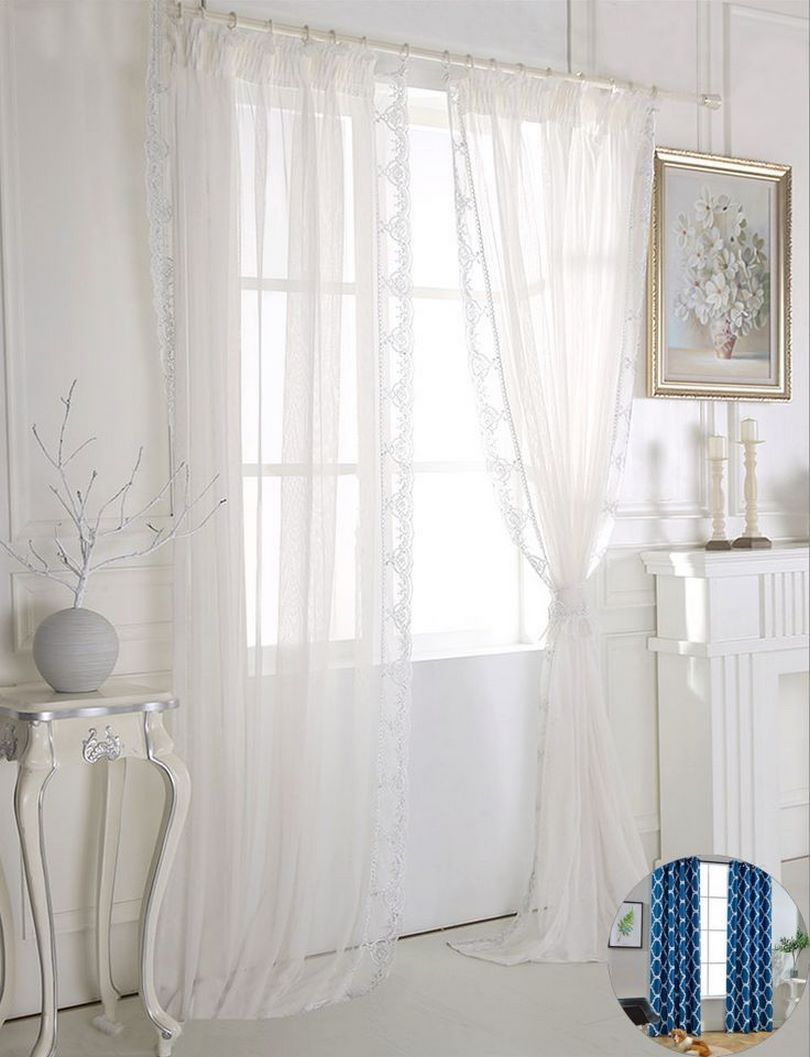 white curtains bedroom