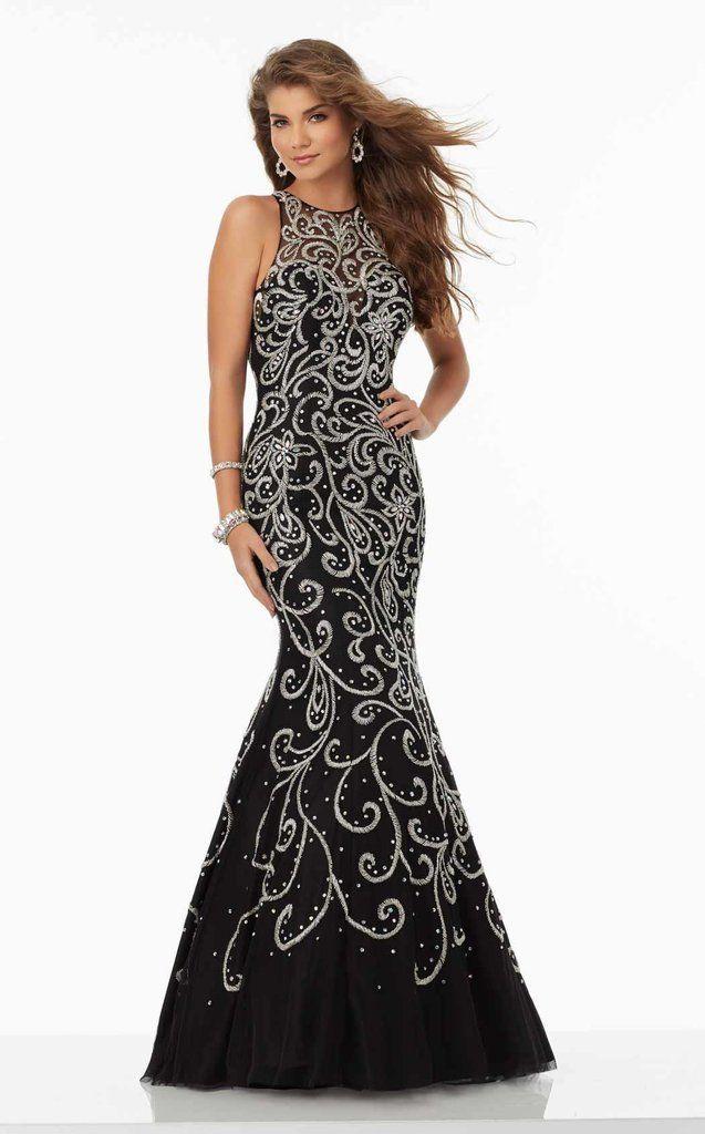 8a98dcd04d Mori Lee Prom Dress  99157 Black size 10