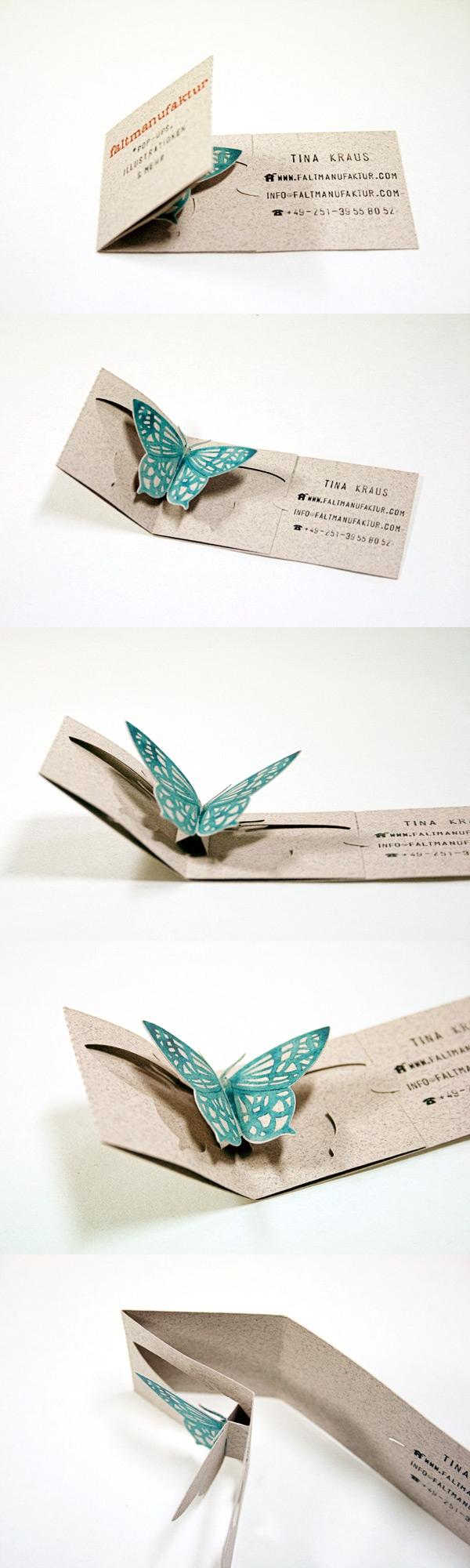 Unique Folding Business Card | Faltmanufaktur | Creative Business ...