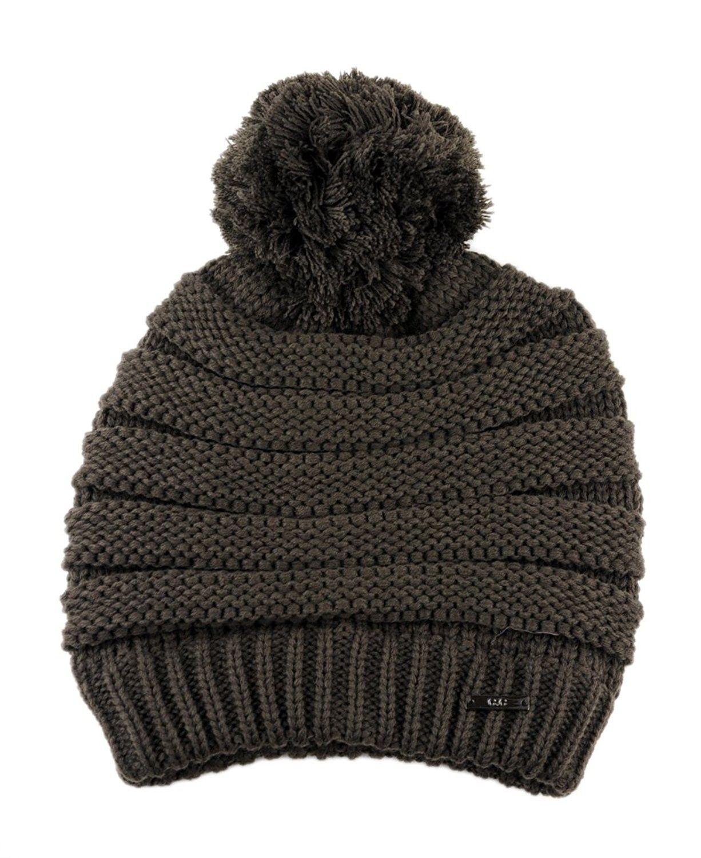 03d420067fd Stylish Unisex Solid Color Warm Acrylic Knit Beanie w  Top Pom Pom ...
