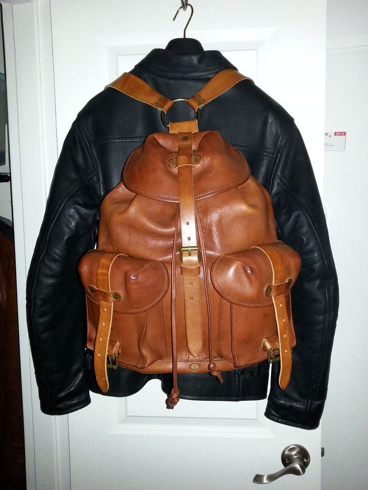 73ce2b52a9a1 Ralph Lauren RRL Genuine Leather Backpack, medium, great condition. |  Clothing, Shoes & Accessories, Men's Accessories, Backpacks, Bags &  Briefcases | eBay!