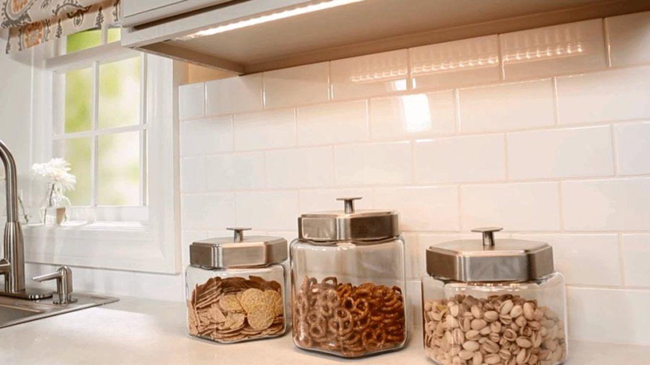 Update Bland Builder's Cabinets   Under cabinet lighting ...