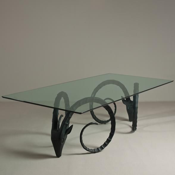 Talisman London A Large Pair Of Rams Head Dining Table