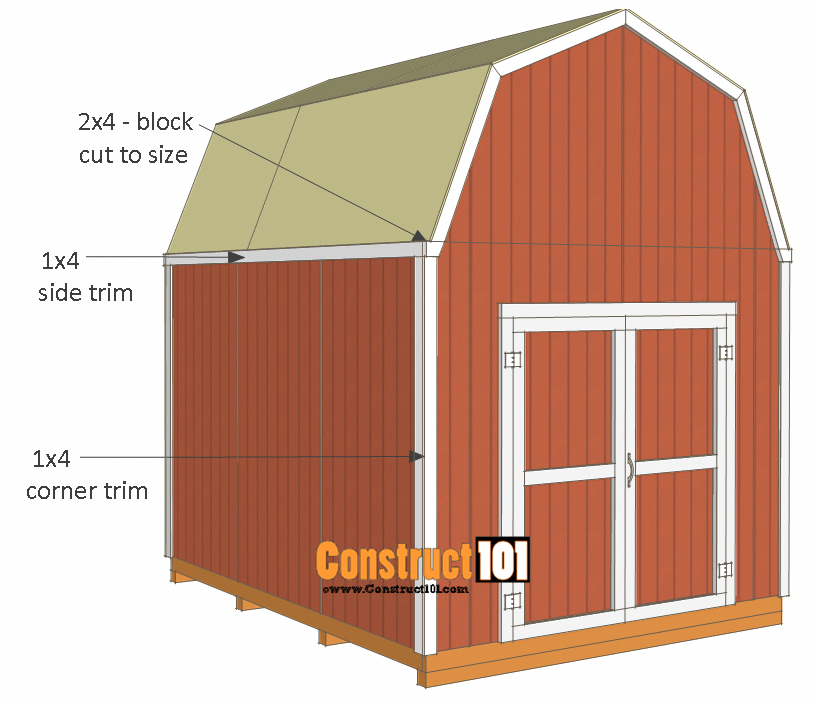 Shed Plans 10x12 Gambrel Shed 10x12 Shed Plans Building A Shed Diy Shed Plans