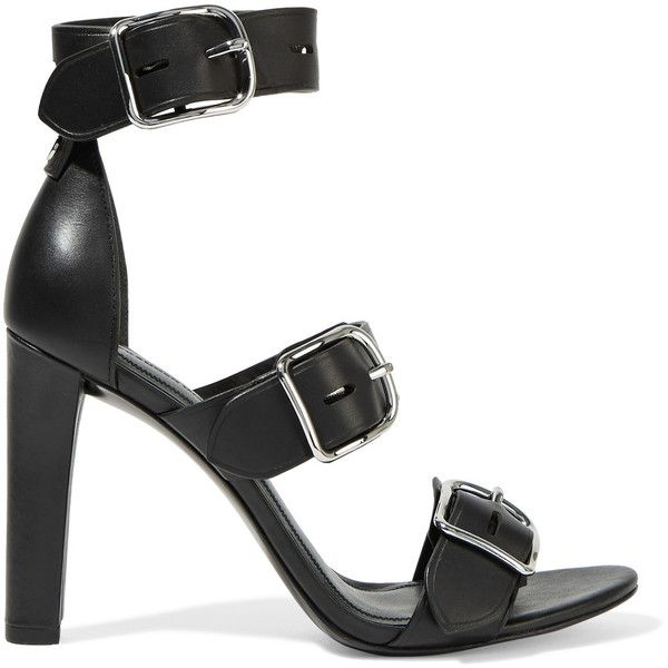 Alexander Wang - Bridget Leather Sandals (€215) ❤ liked on Polyvore  featuring shoes