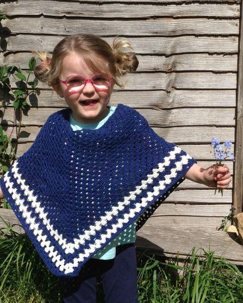 Free child's Crochet poncho pattern