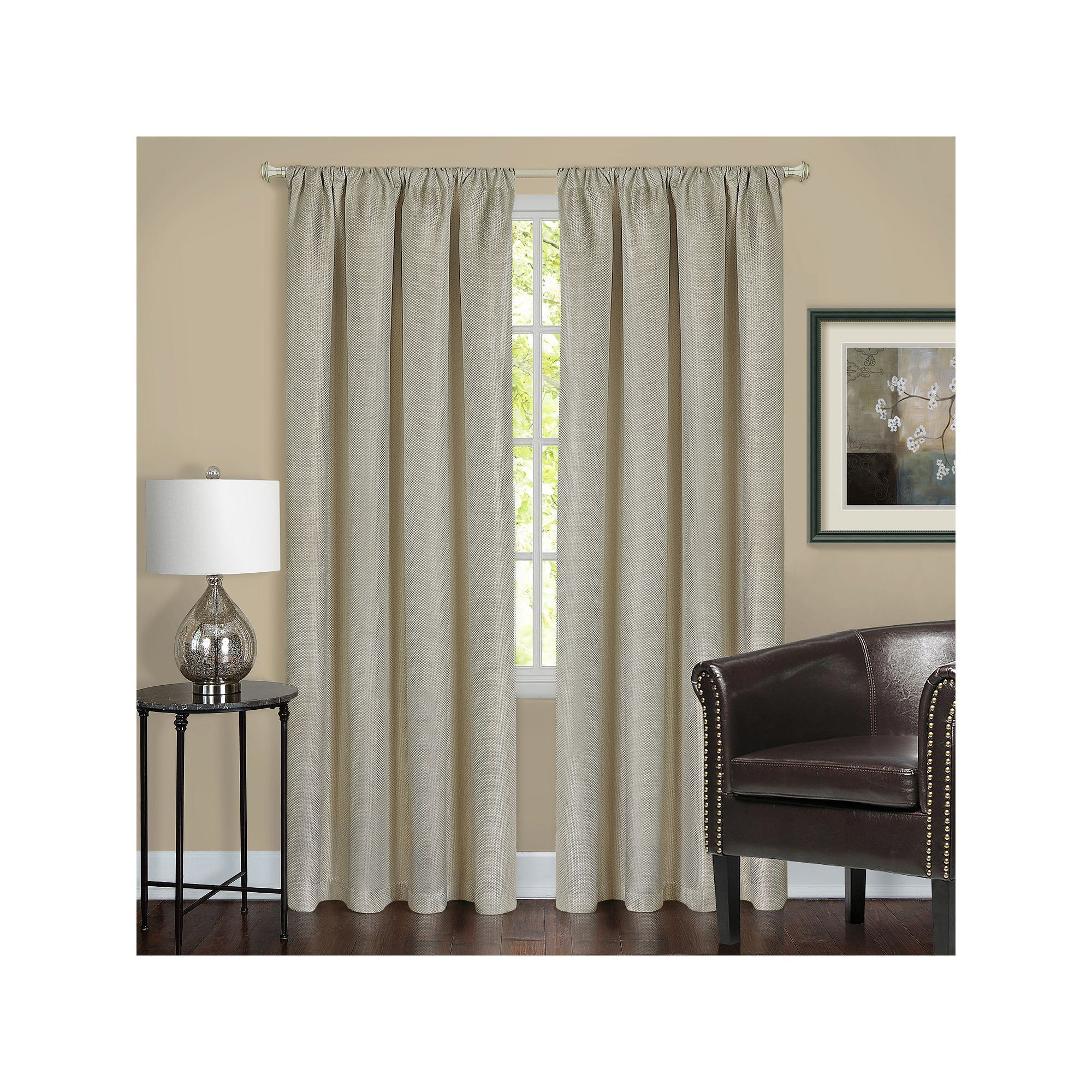 Achim Harmony Blackout Curtain Beig Green Beig Khaki