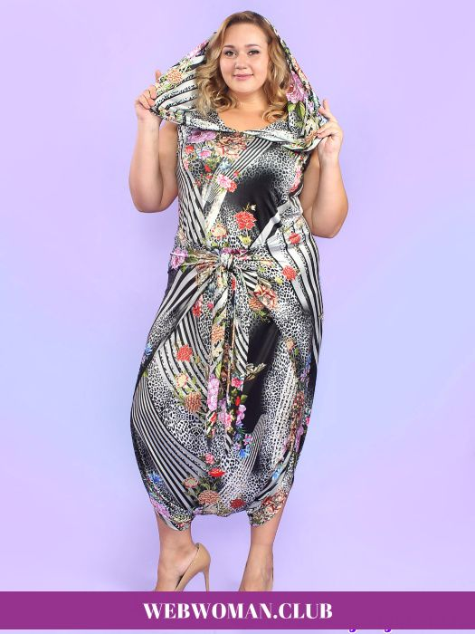 c84a70787f5 Платье - комбинезон Мессалина Magesty Повседневные платья для полных ...