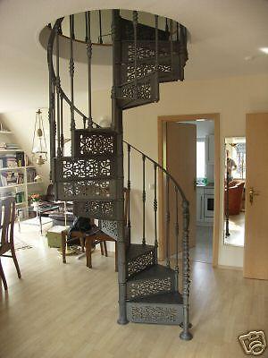 Gusseiserne Wendeltreppe   Spindeltreppe !!NEUWARE!! Treppe - design treppe holz lebendig aussieht