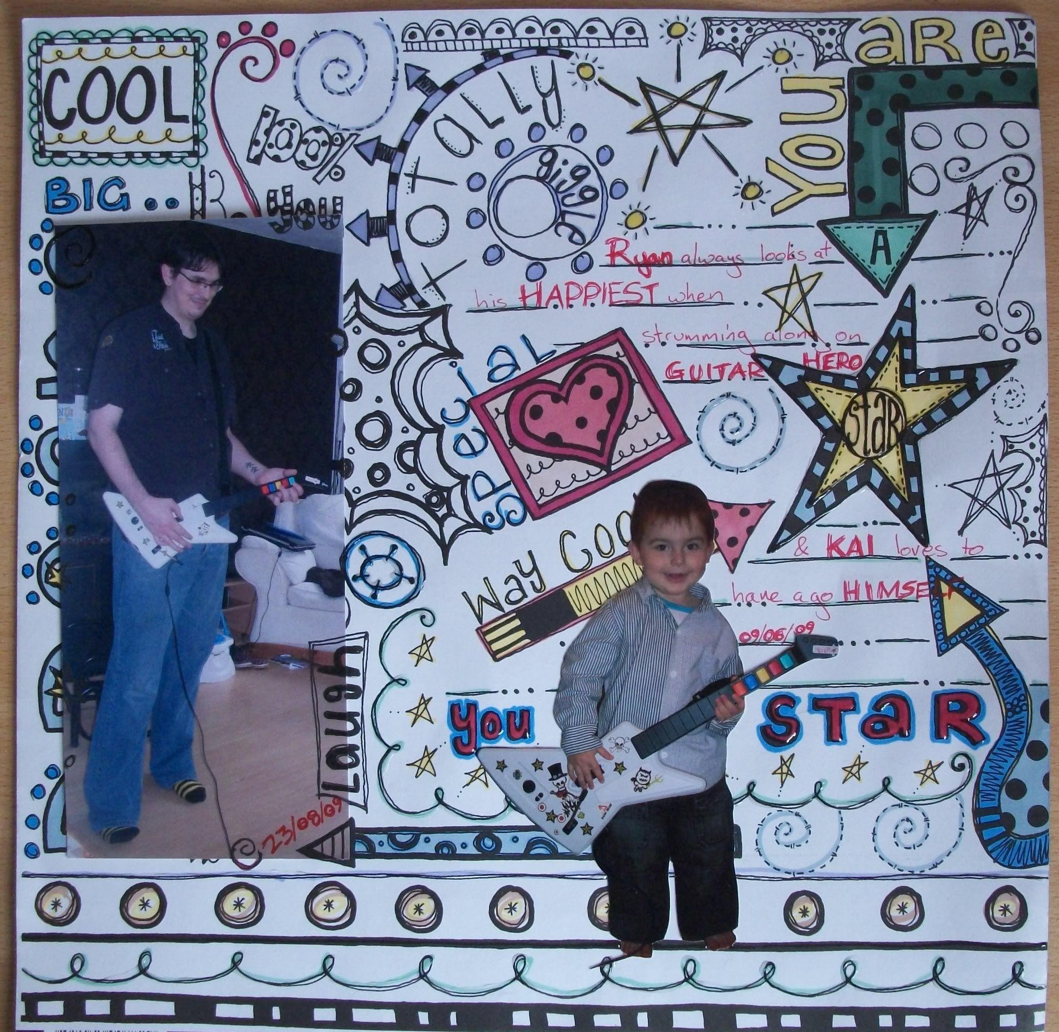 Doodle scrapbook page-I love doodles!