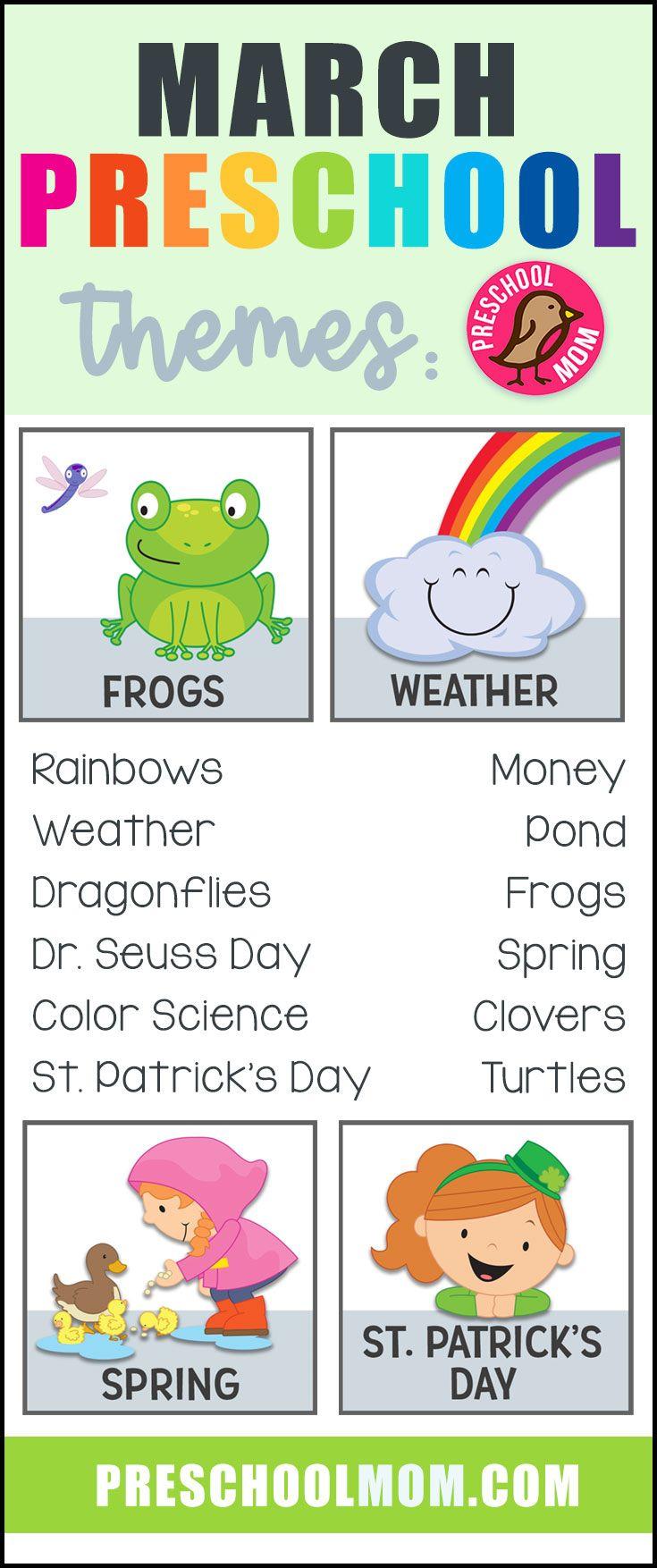 March Preschool Themes