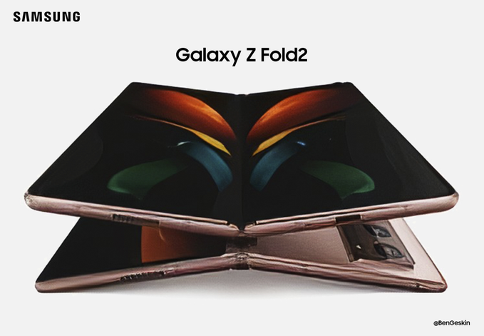 Galaxy Z Fold 2 Design Leaks Camera Chipset And More We Have An Official Image Of The Galaxy Z Fold 2 The Blurry Samsung Galaxy New Samsung Galaxy Samsung